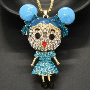 Jewelry - Articulated 3D Crystal Powerpuff Girls Necklace
